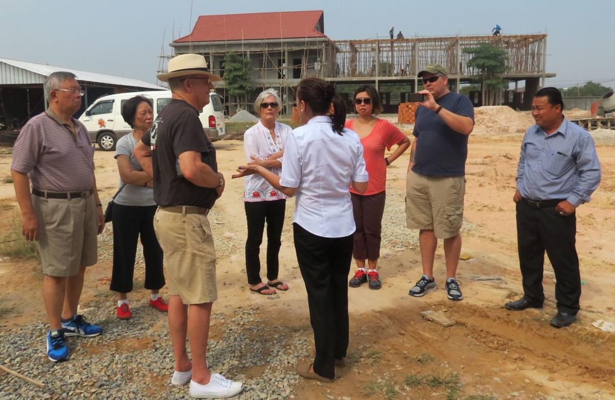 Dick and Ann Grace in Siem Reap, Cambodia