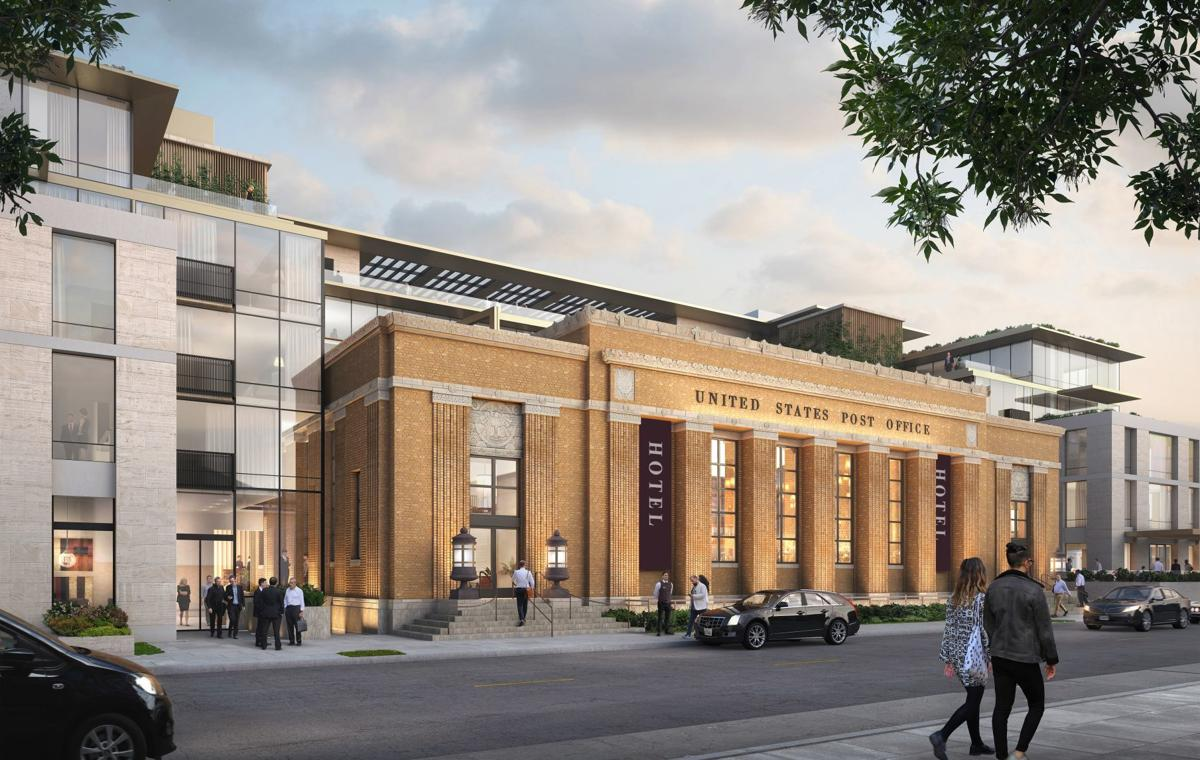 An artist rendering of the future Franklin Station hotel complex in downtown Napa.