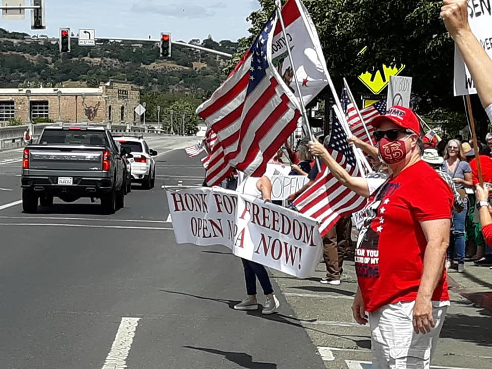 Reopen Napa County rally