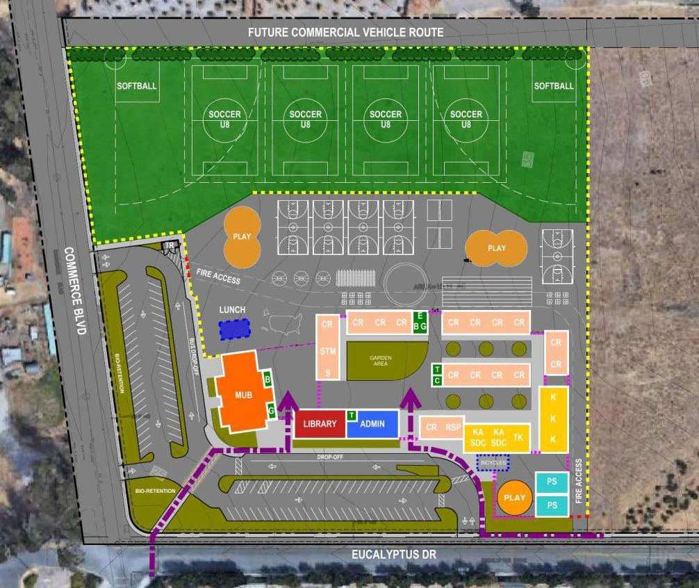 New Napa Junction Elementary School site layout