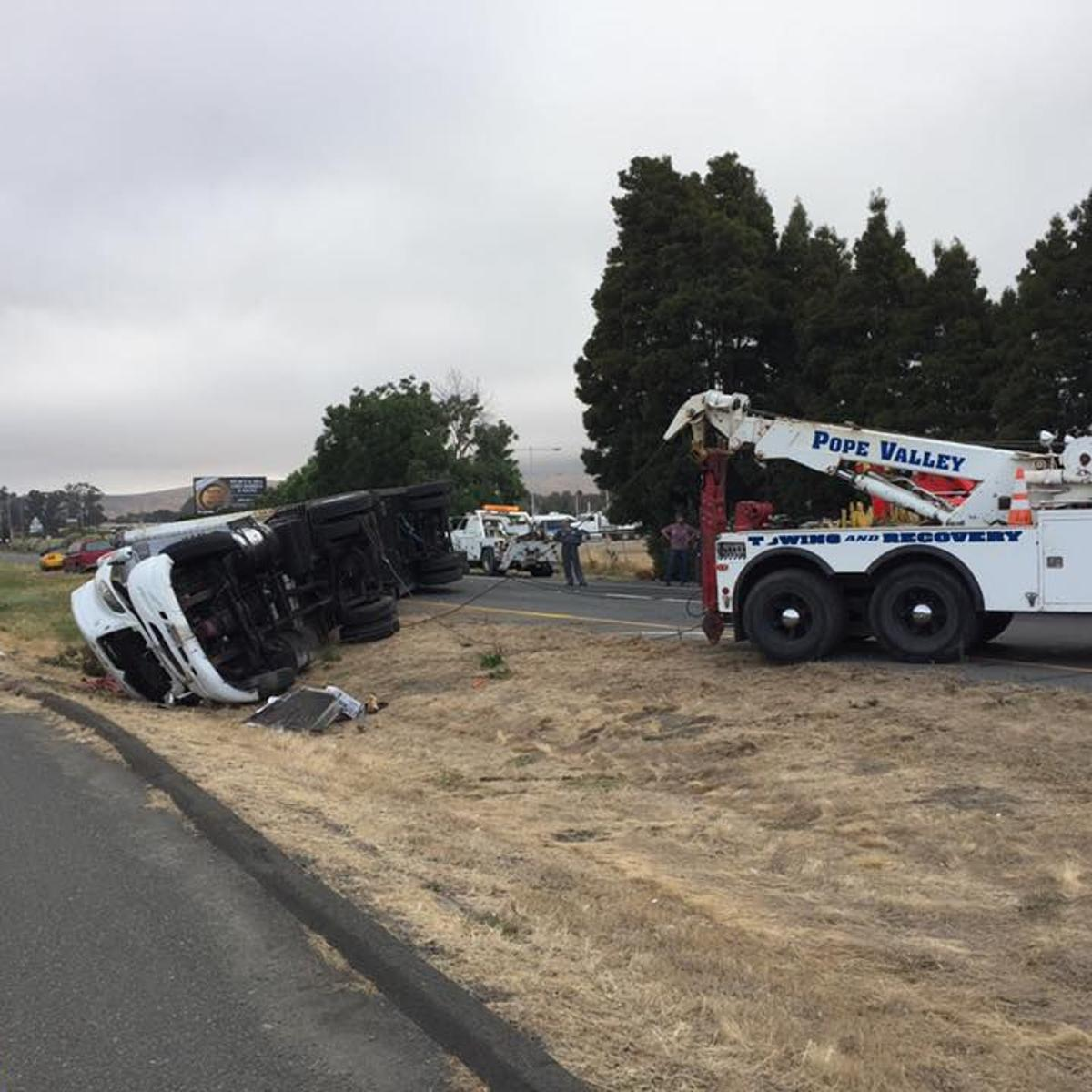 Truck crash closes Highway 29 second week in a row