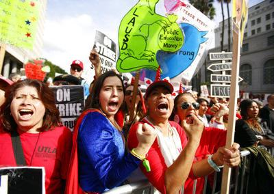 Teachers succeed by framing strikes as for common good