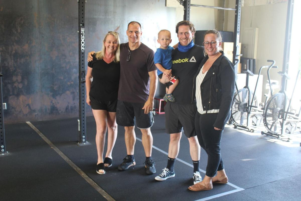 Cia, Grimes families at Core Community Fitness