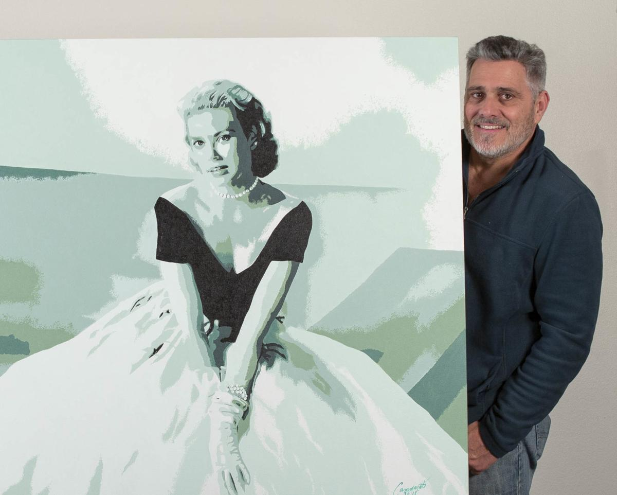 In A Touch Of Kismet Napa Artist Paints Hollywood Star