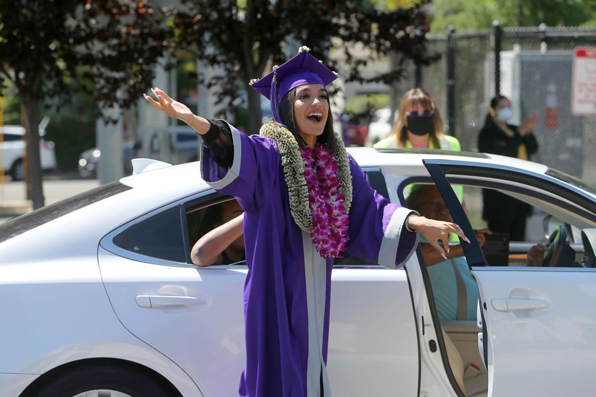 Drive-up high school diploma ceremonies in Napa
