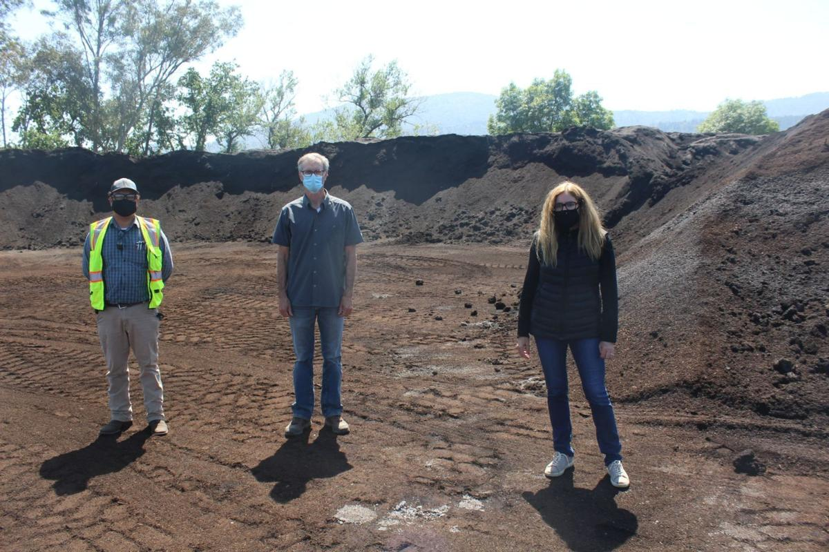 Compost piles at UVDS