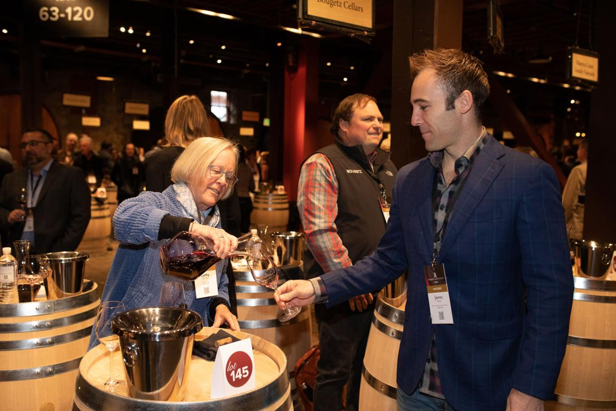 Cathy Corison pours at Premiere