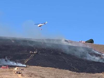 Grass fire in American Canyon