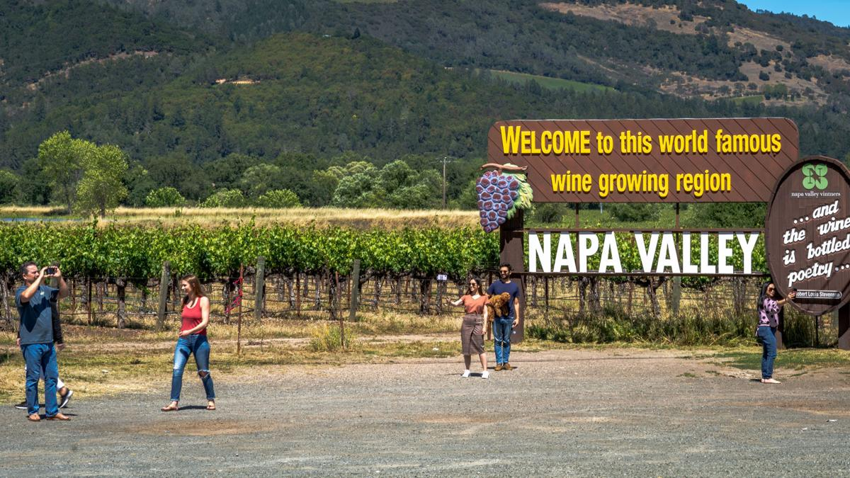 Napa Valley Welcome Sign Memorial Day weekend