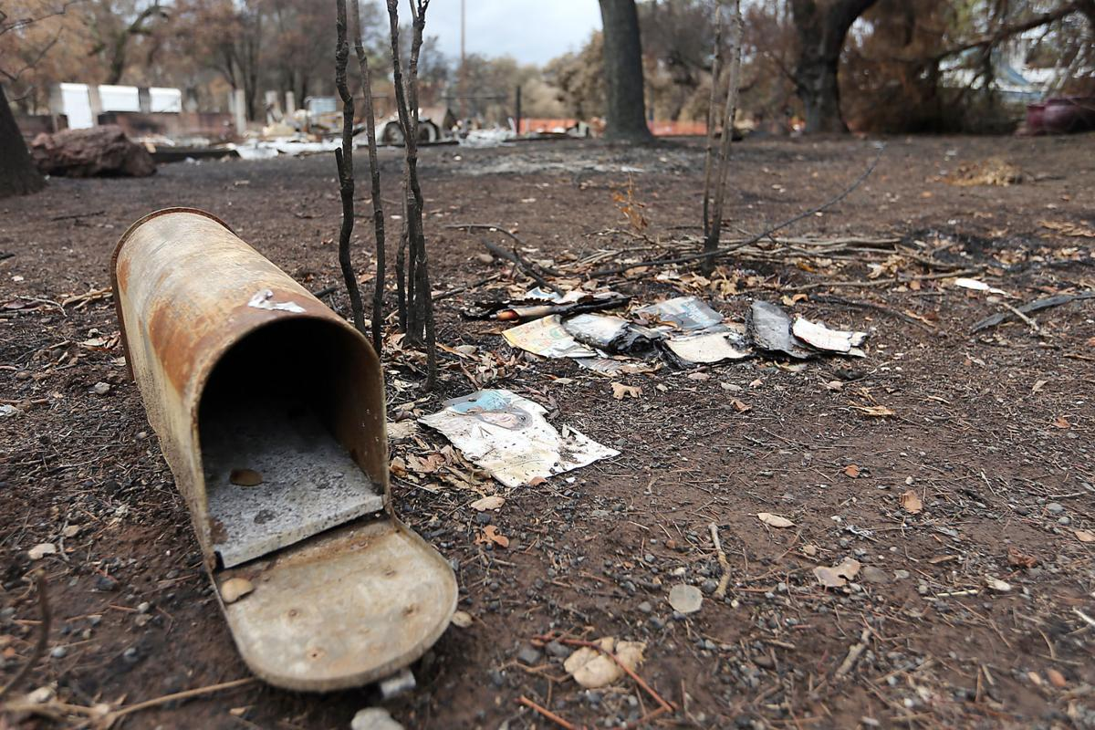 Mailboxes Destroyed in Atlas Fire