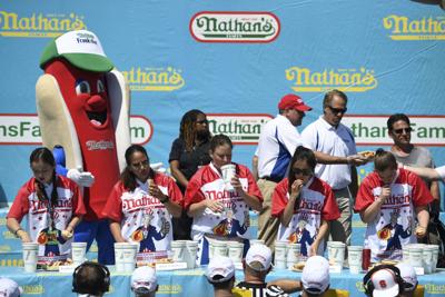 Hot Dog! Search competitive hot dog eating results