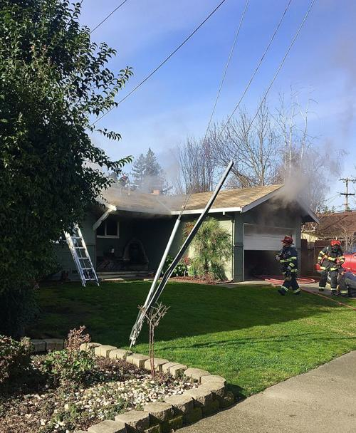 House fire in Napa