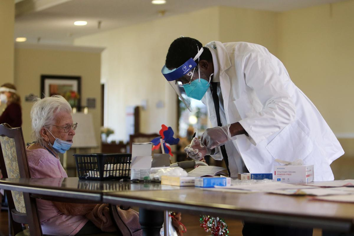 Coronavirus vaccine clinic at Brookdale Napa x disclosure
