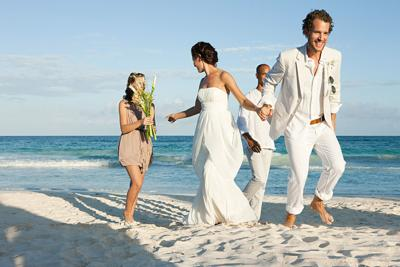 Beaches are one of many popular destinations for weddings. *FOR USE WITH THIS STORY ONLY*