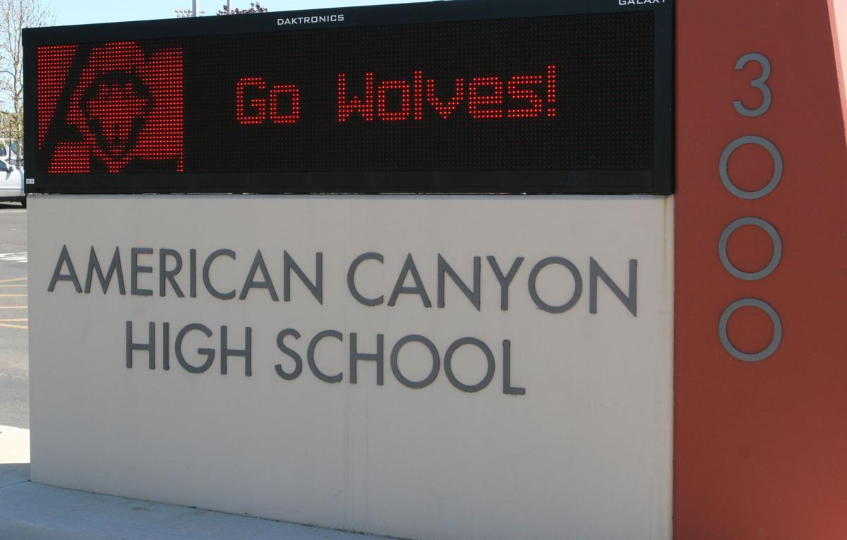 American Canyon High School front sign