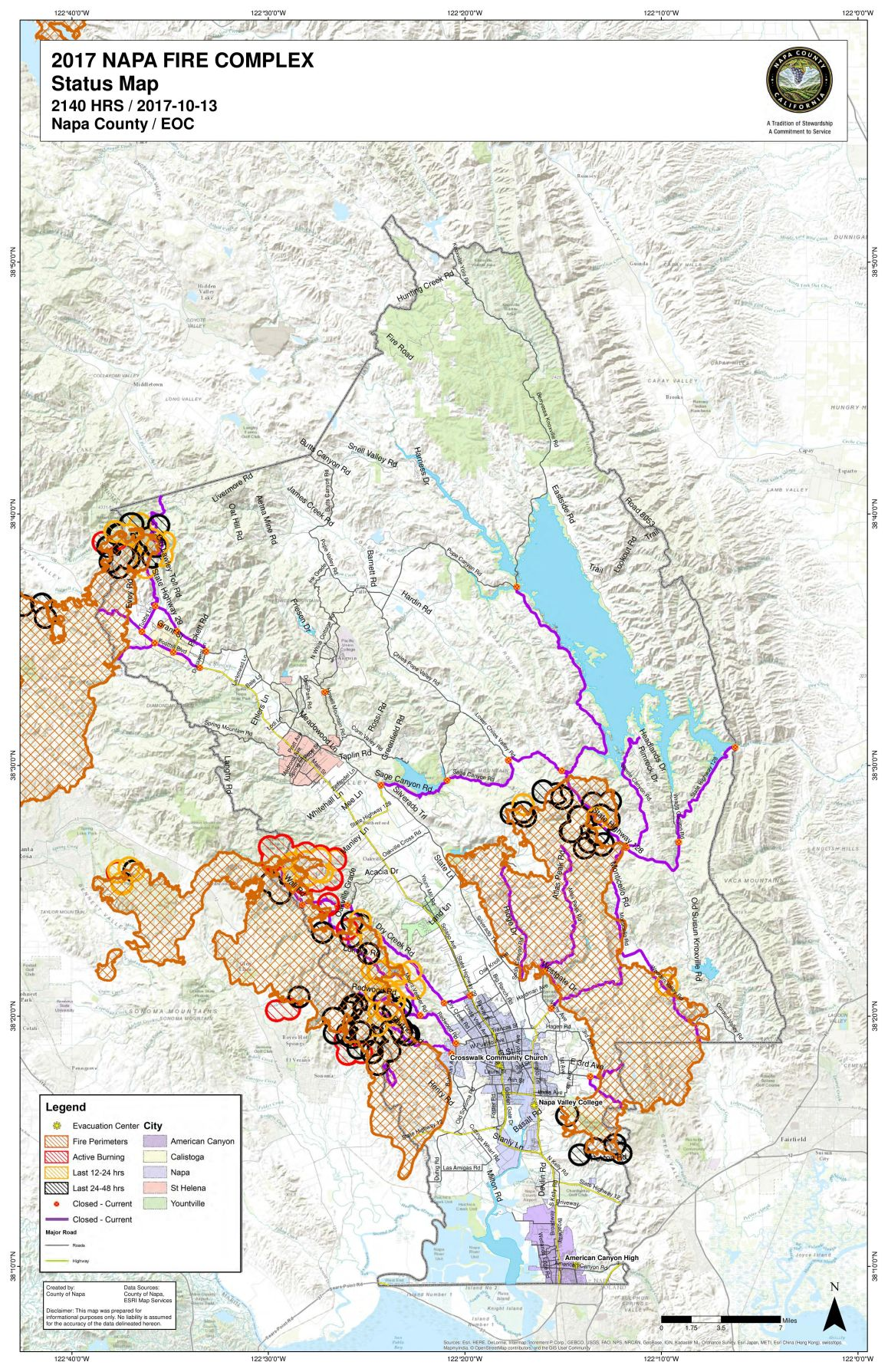 Napa County Fire Map, updated Oct. 14, and real time map | Local