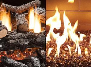 Gas Logs and Fireglass