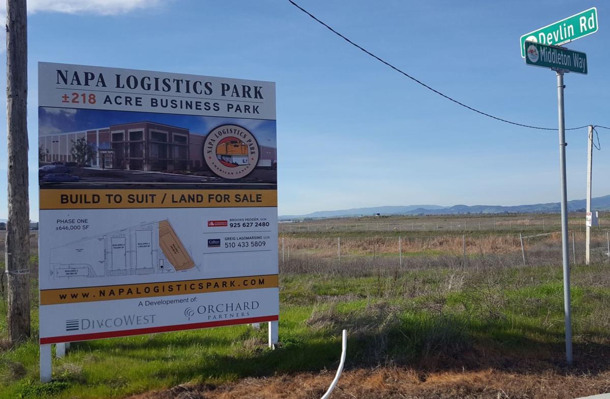 Napa Logistics Park sign Phase II