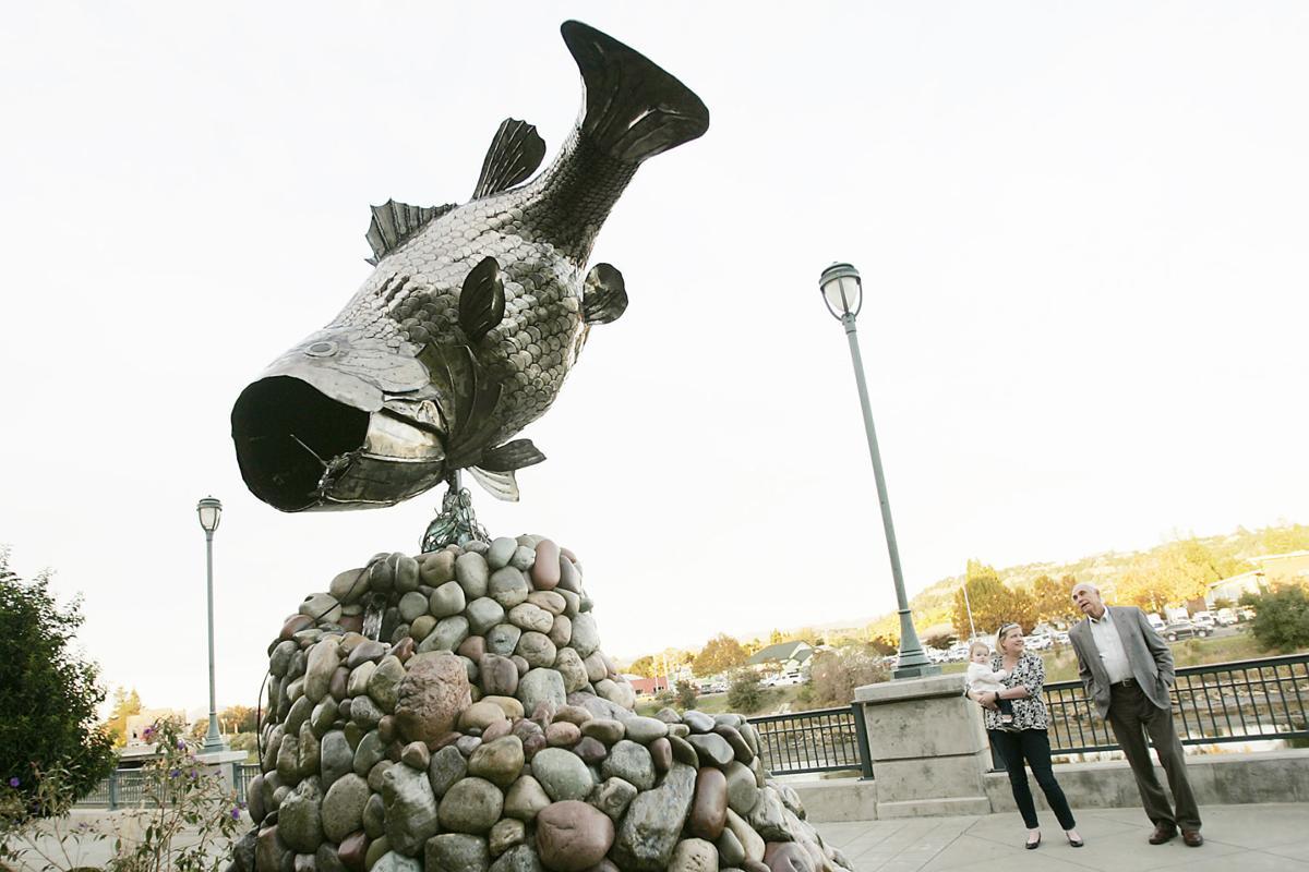 Fish On Sculpture