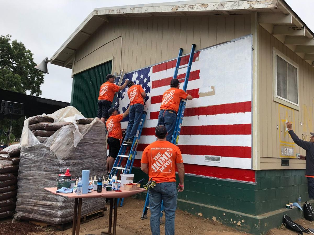 Home Depot Foundation volunteers at the Yountville Veterans Home