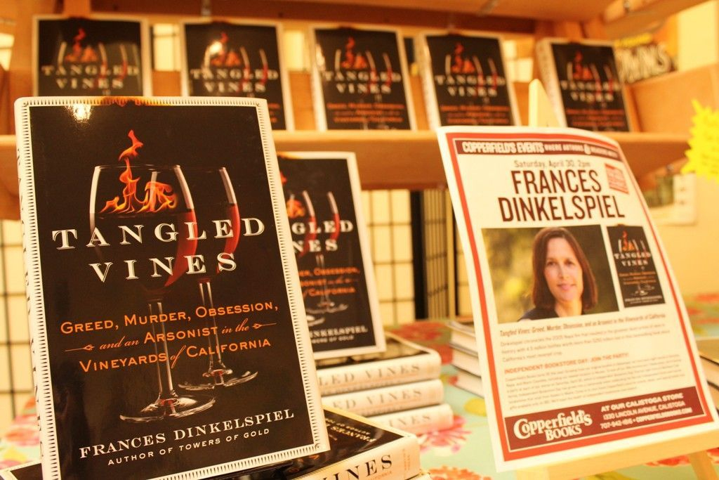 Frances Dinkelspiel at Copperfield's in Calistoga