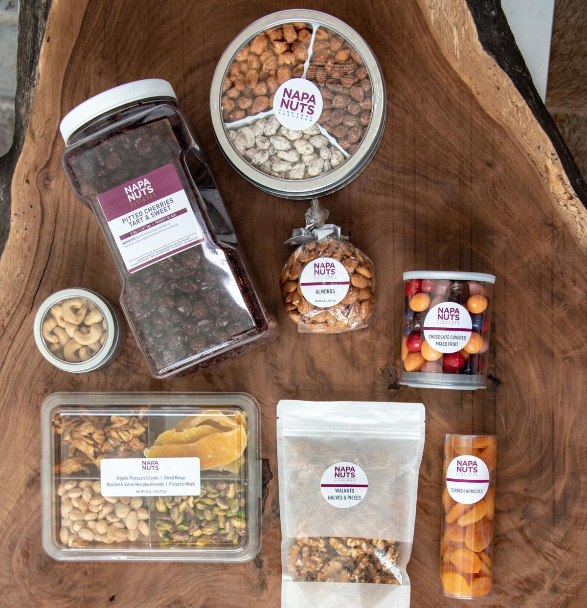 A selection from Napa Nuts, a company based in Napa.