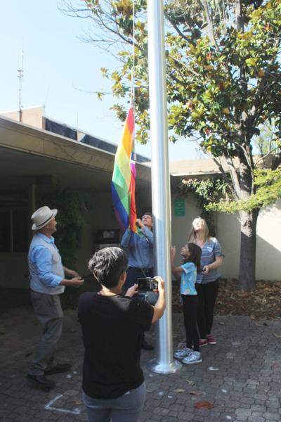 Pride flag flies over St. Helena City Hall