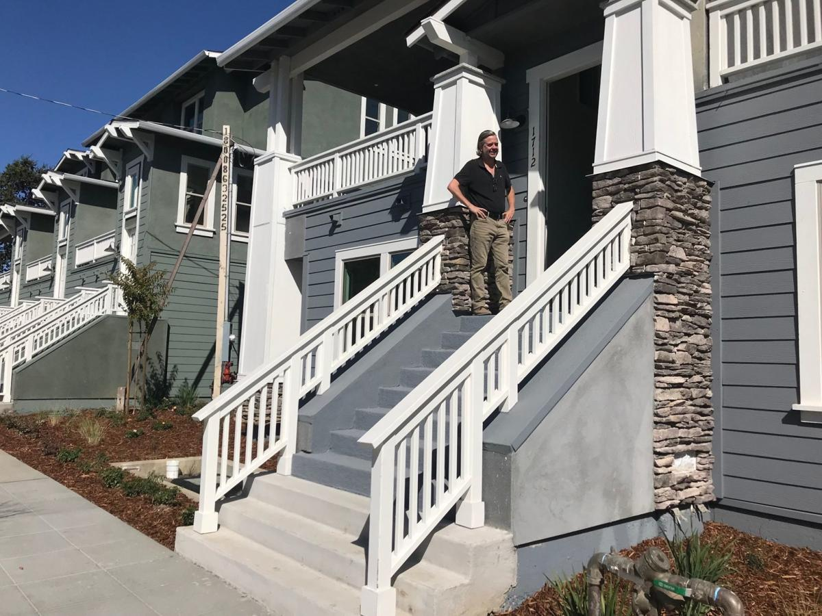 Geoffrey McComic of Vesta Pacific Development at the new Register Square townhomes in downtown Napa.