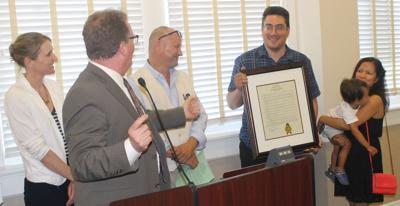 St. Helena City Council honors Star reporter Jesse Duarte (copy)