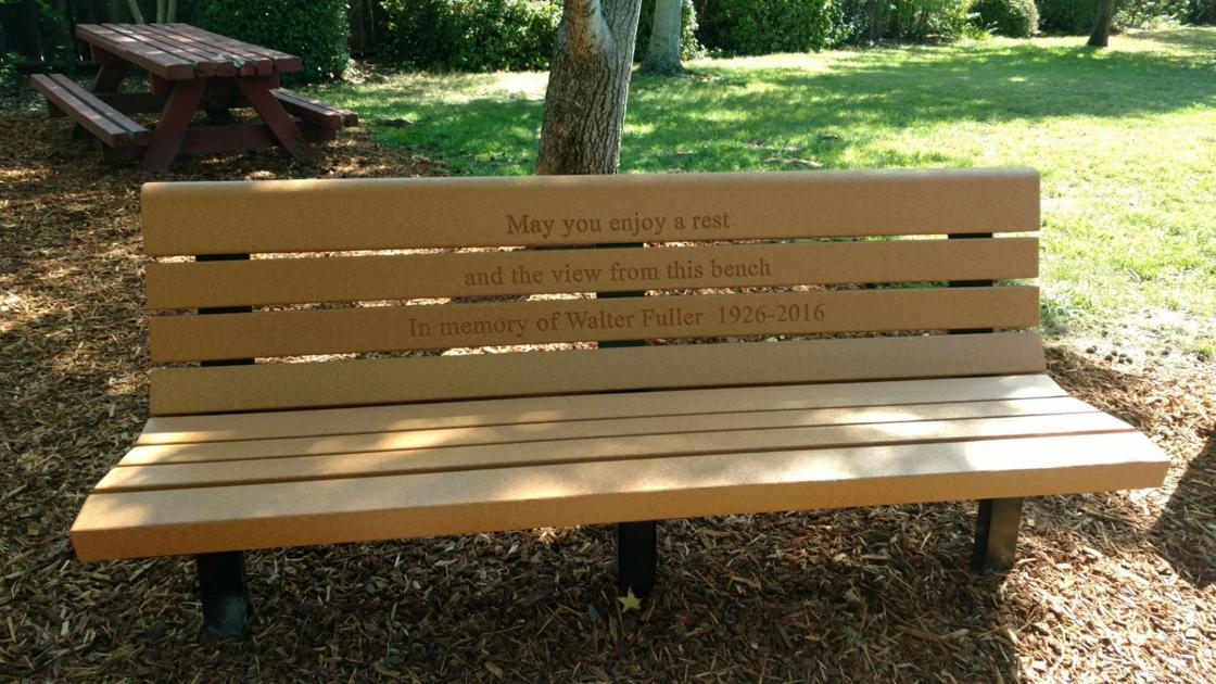 St. Helenans donate benches in memory of their fathers