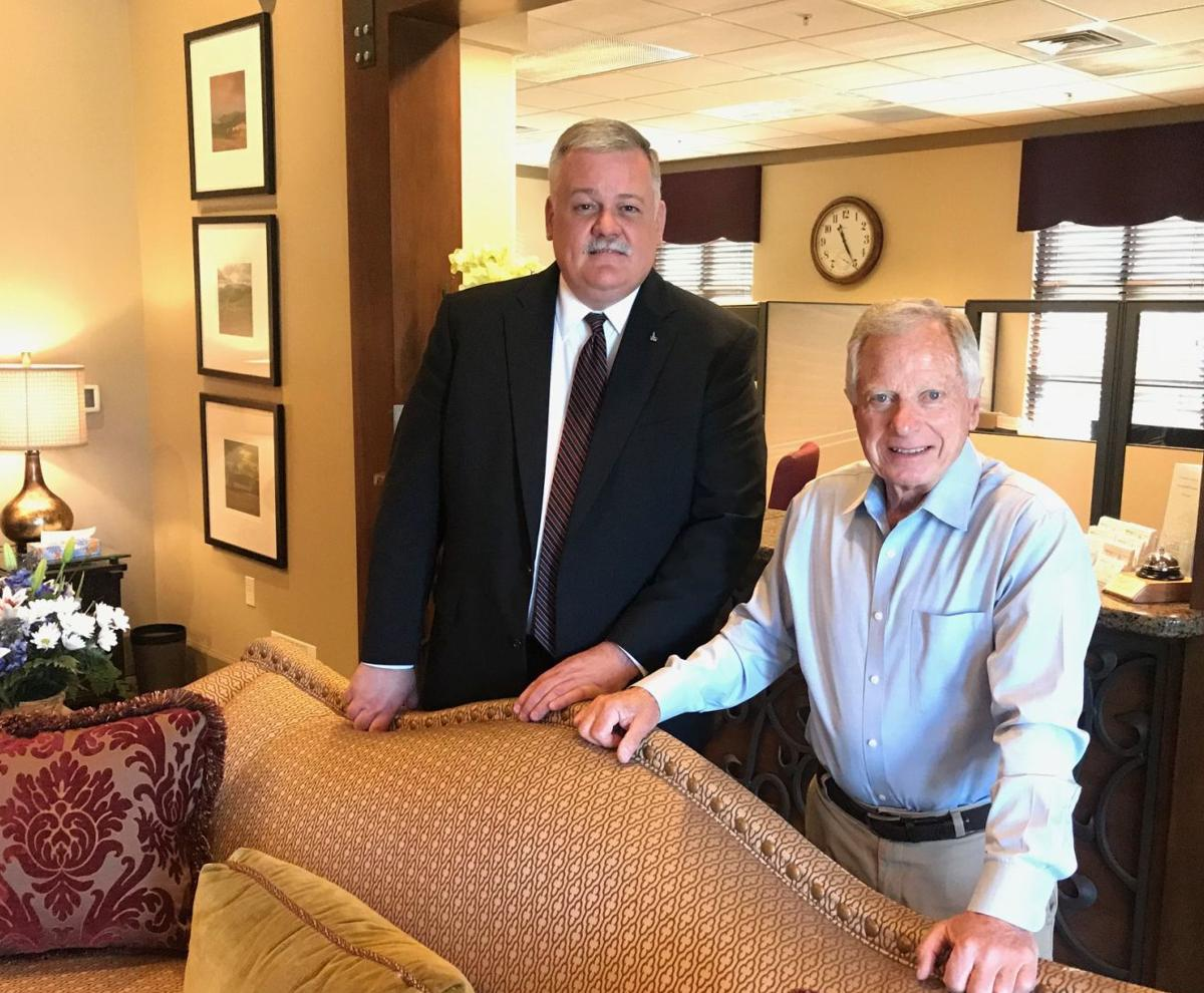 Peter Manasse, right, has retired from his longtime job as general manager at Tulocay Cemetery Funeral Home & Crematory. Roland Wallace, Jr., left, is the new chief operations officer at the nonprofit.