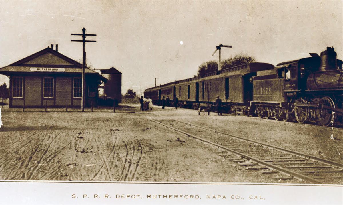1906 postcard RutherfordStationDepot