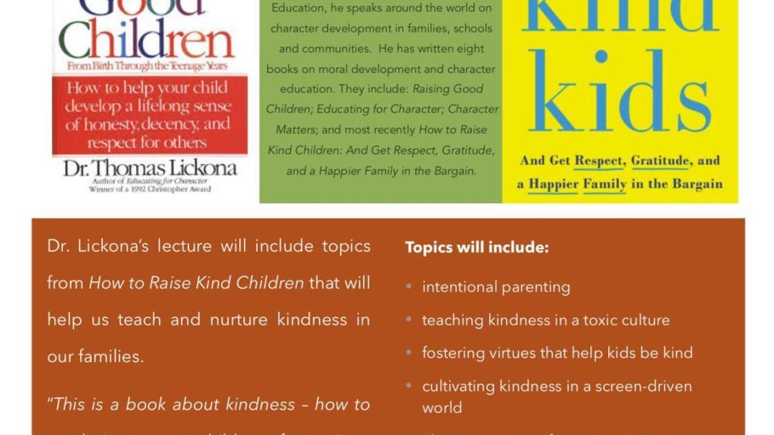 Raising Kind Children >> Raising Kind Kids Is Topic At St Helena Montessori School