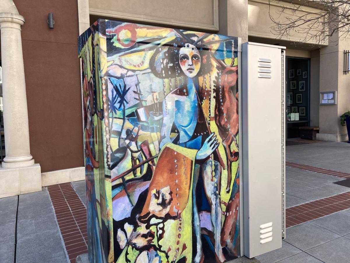 utility box art Napa