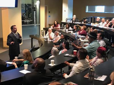Rob Eyler, Ph.D., spoke about Napa County's economy at Tuesday's Workforce Alliance of the North Bay Business Resource Fair.