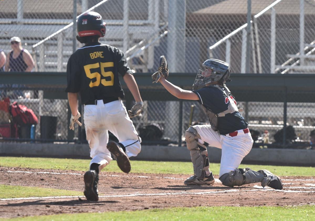 St. Helena Little League Junior All-Stars catcher Henry Ray