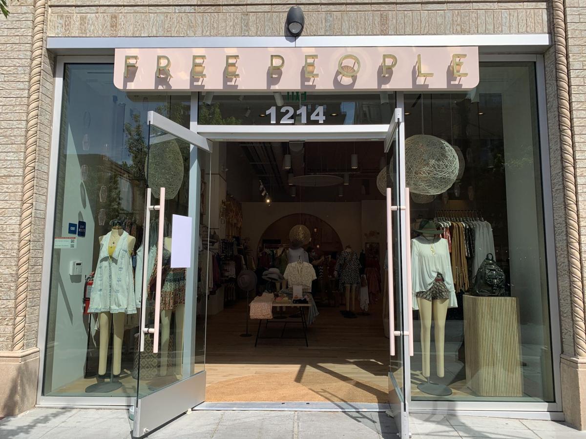 Free People retail store, downtown Napa