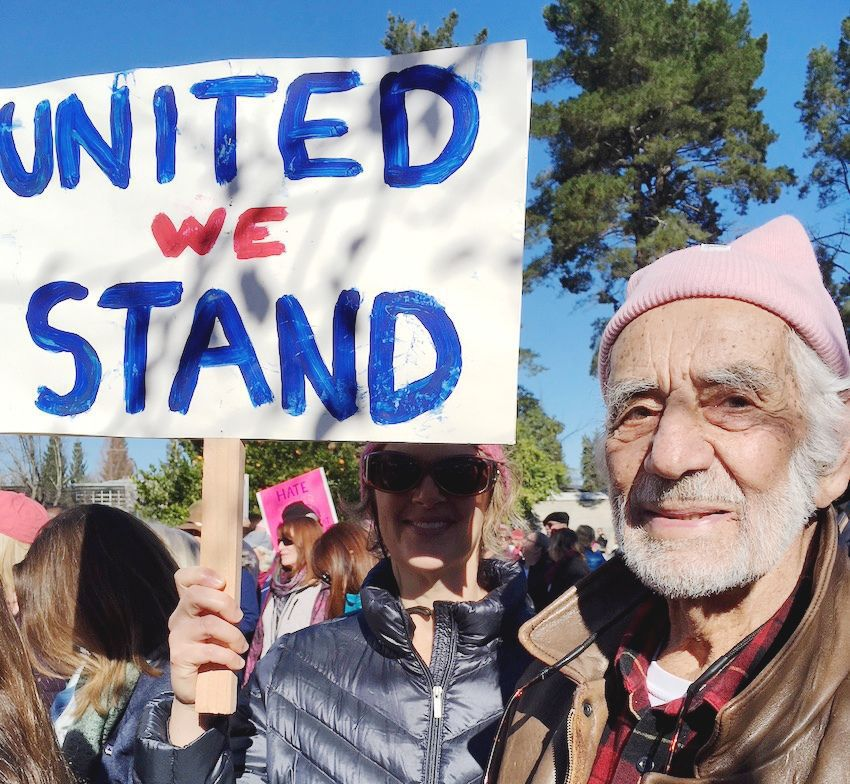 Bill Ryan marches in Napa