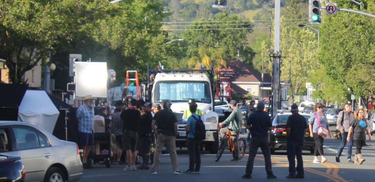 "Shooting Netflix movie ""Wine Country"" in Calistoga"