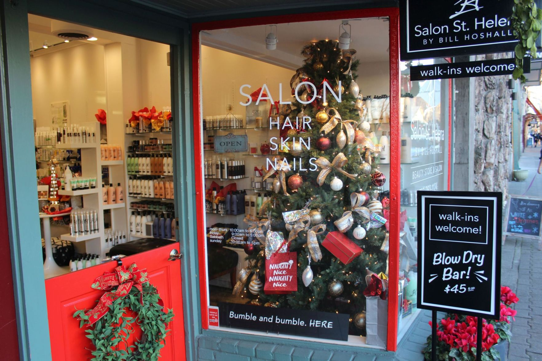 salon st helena hosts holiday happening st helena star napavalleyregistercom - Is 711 Open On Christmas
