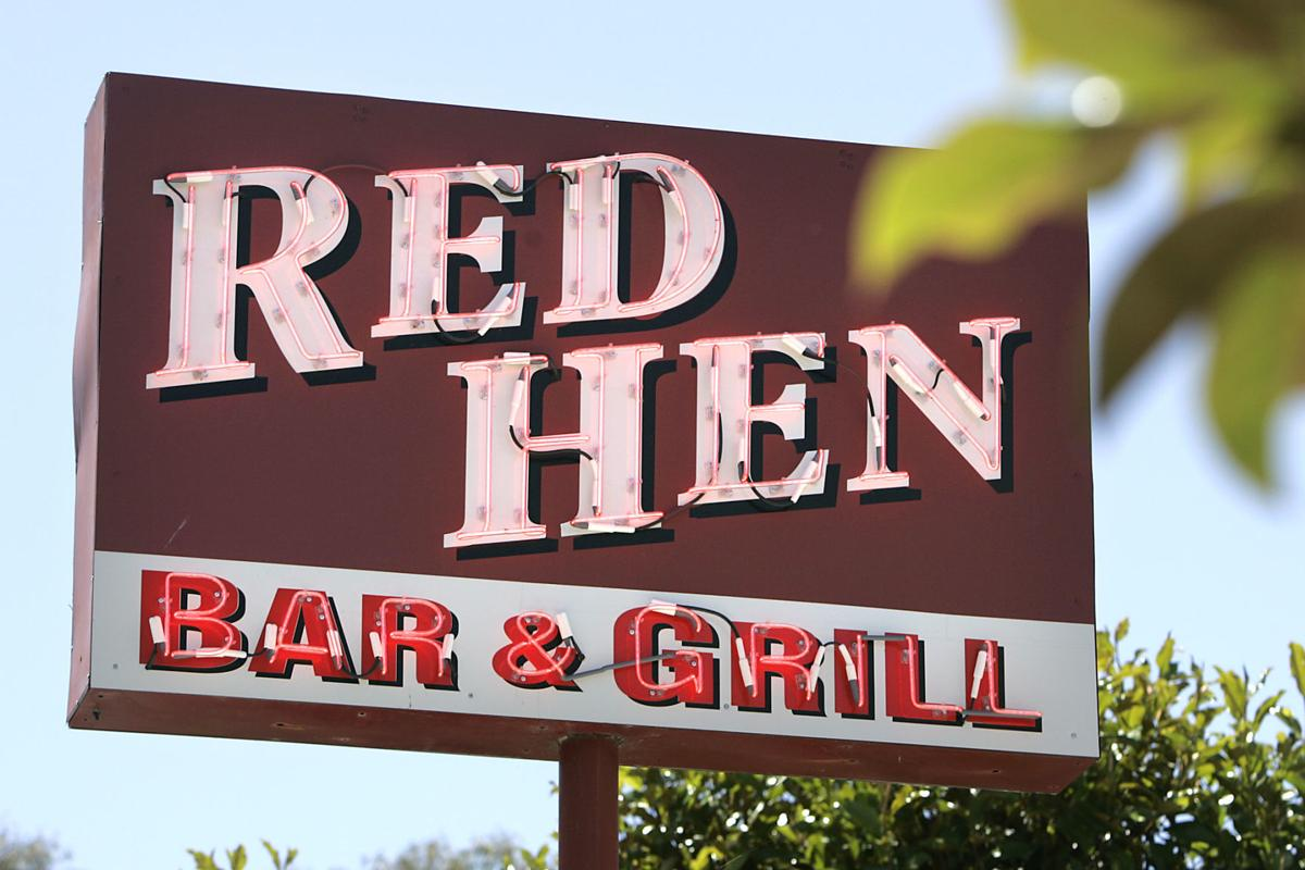 Red Hen Bar and Grill sign
