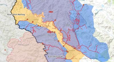 Evacuation map, Monday Oct.5