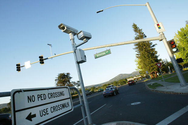 Napa red-light cameras dormant but still in place – for now ...