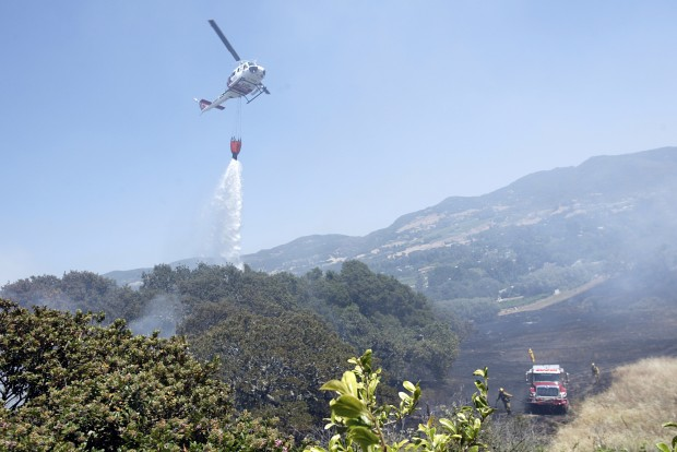 Alta Heights homes threatened by Coombsville fire