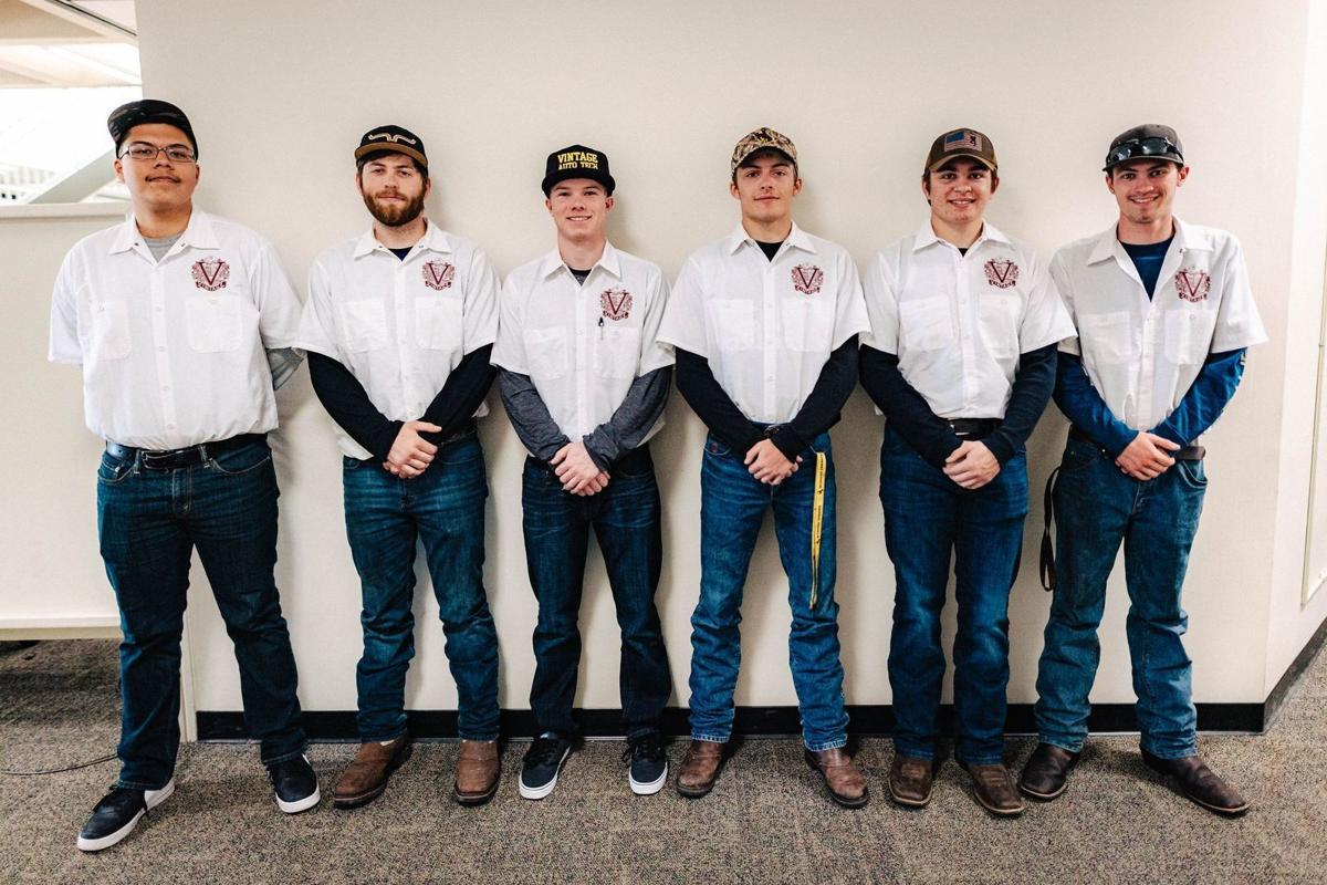Students from the Vintage High School auto tech program
