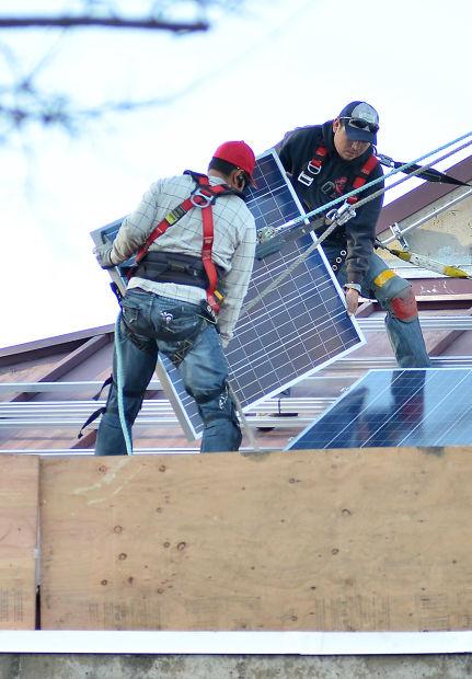 Solar panels at Napa County Library