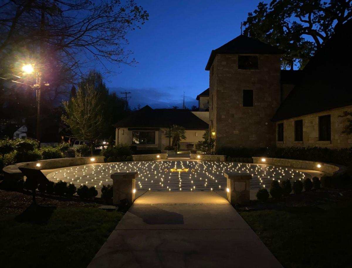 Easter at the Grace Episcopal Church labyrinth