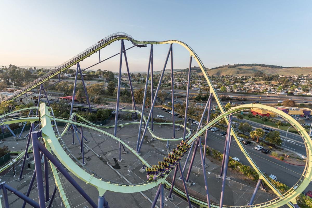 Six Flags Medusa roller coaster