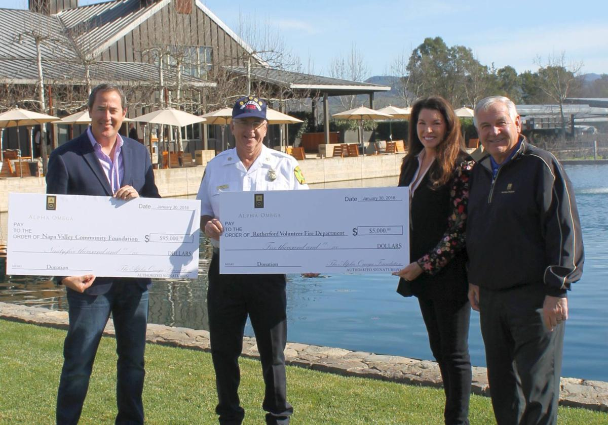 Alpha Omega Foundation presents $100,000 for fire relief