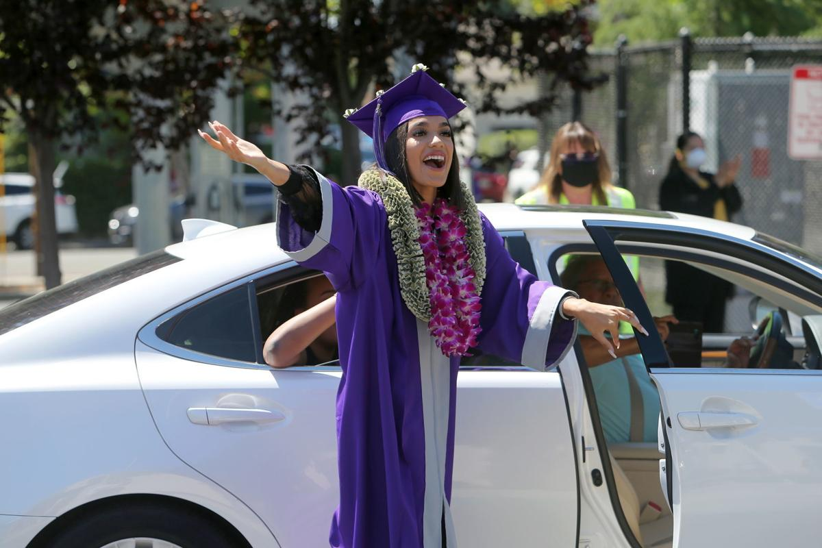 Drive-up high school diploma ceremonies in Napa